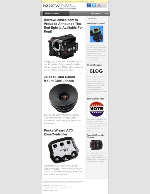 PSD to Email - Borrow Lenses