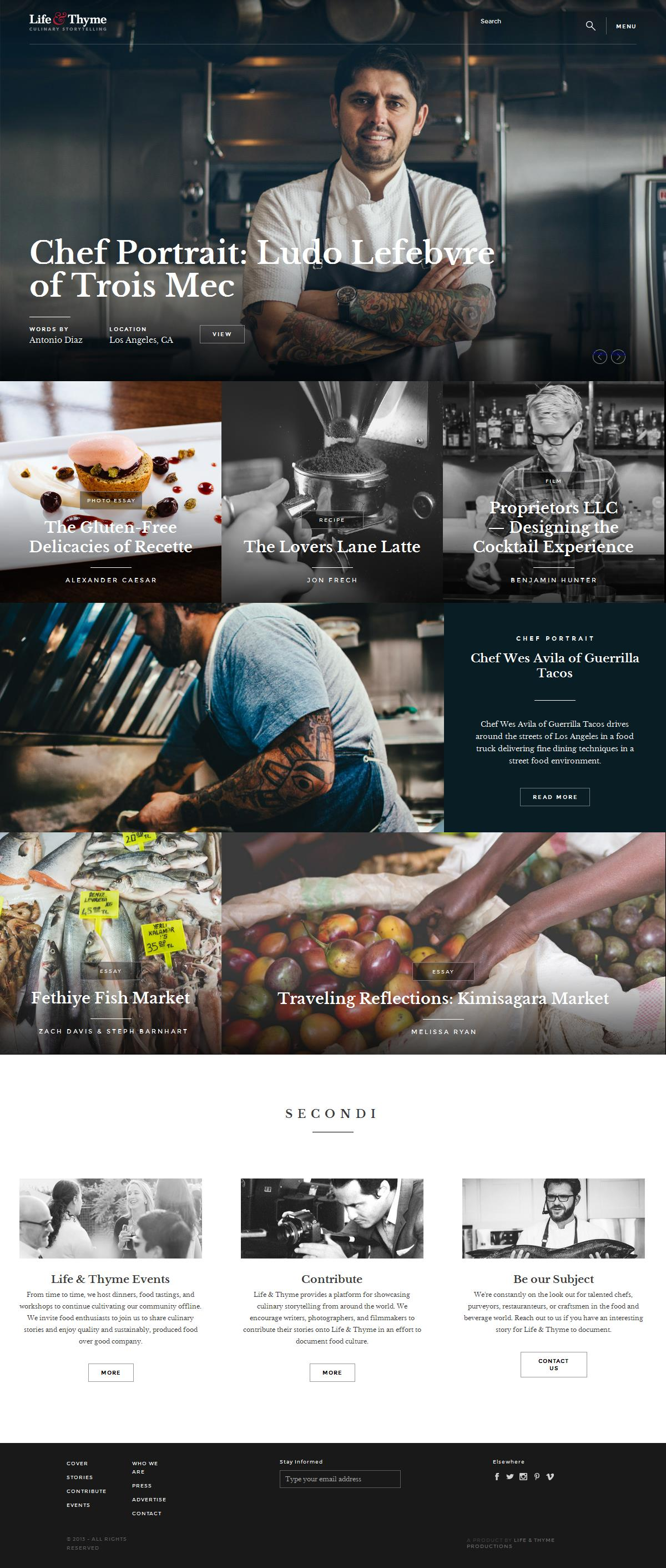 PSD to Wordpress - Life And Thyme