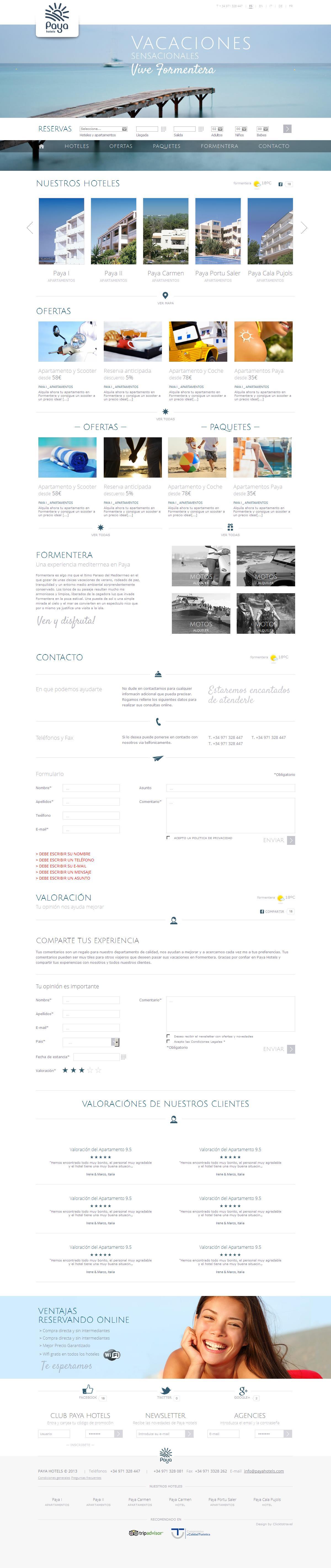 PSD to HTML - Paya Hotels